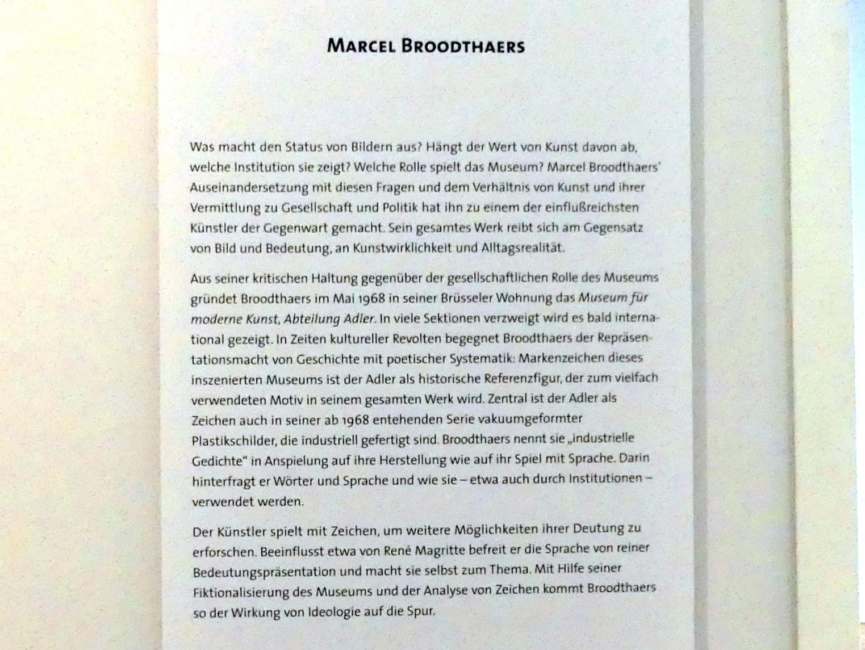 Marcel Broodthaers (1924 Saint-Gilles - 1976 Köln)
