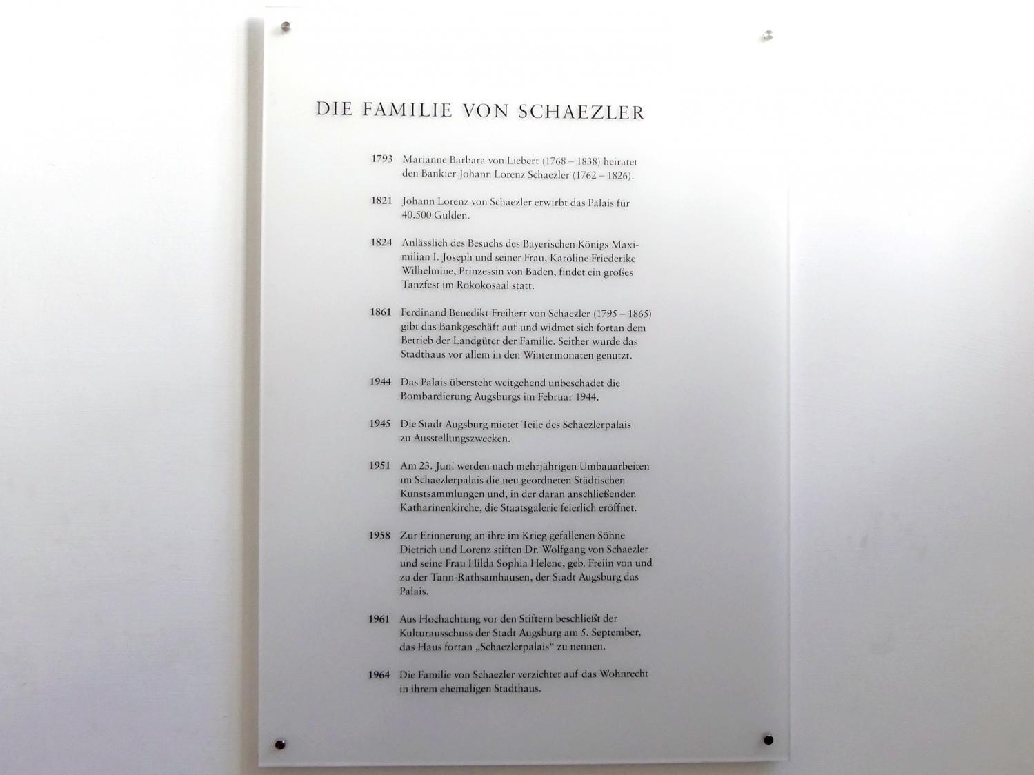 Augsburg, Städtische Kunstsammlungen, Deutsche Barockgalerie im Schaezlerpalais, Bild 3/6