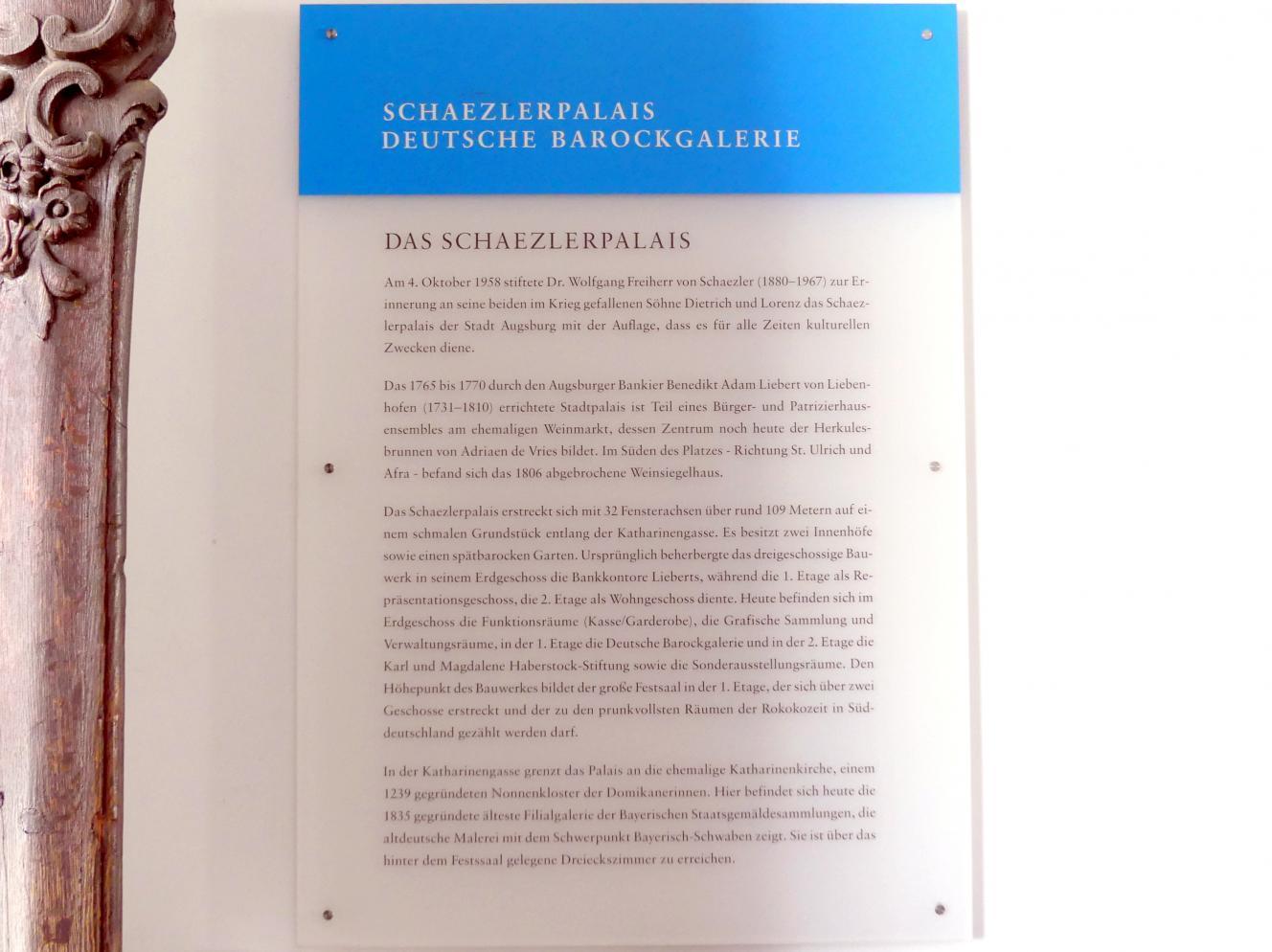 Augsburg, Städtische Kunstsammlungen, Deutsche Barockgalerie im Schaezlerpalais, Bild 4/6