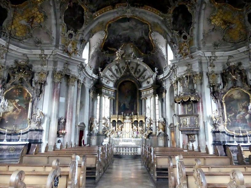 Würzburg, Käppele Wallfahrtskirche Mariä Heimsuchung auf dem Nikolausberg, Bild 3/5
