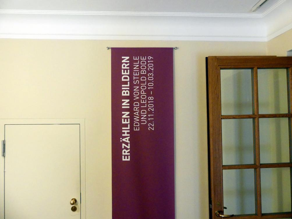 """München, Sammlung Schack, Ausstellung """"Erzählen in Bildern"""" vom 22.11.2018-10.03.2019, Bild 1/2"""