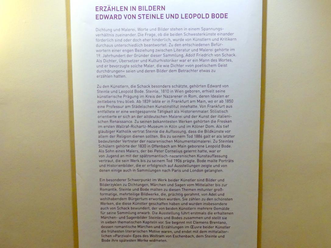 """München, Sammlung Schack, Ausstellung """"Erzählen in Bildern"""" vom 22.11.2018-10.03.2019, Bild 2/2"""