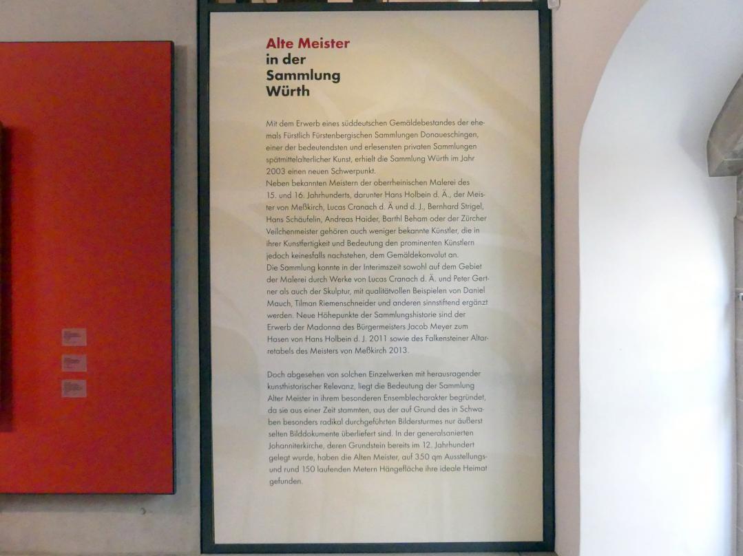 Schwäbisch Hall, Johanniterkirche, Alte Meister in der Sammlung Würth, Bild 5/8