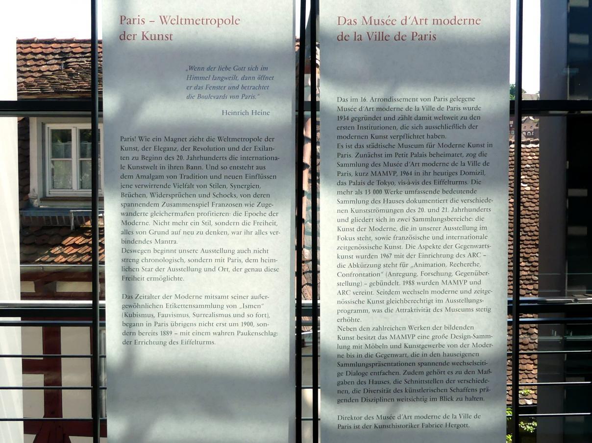 """Schwäbisch Hall, Kunsthalle Würth, Ausstellung """"Das Musée d'Art moderne de la Ville de Paris zu Gast in der Kunsthalle Würth"""" vom 15.4.-15.9.2019, Bild 2/5"""