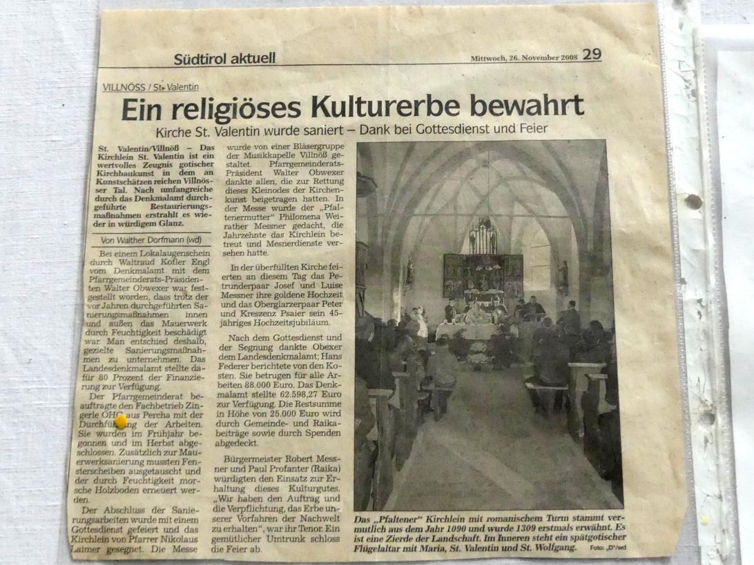 Villnöß, Kirche St. Valentin, Bild 11/12
