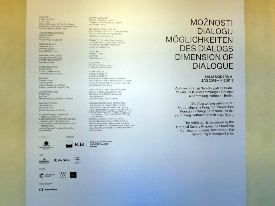 """Prag, Nationalgalerie im Salm-Palast, Ausstellung """"Möglichkeiten des Dialogs"""" vom 2.12.2018-1.12.2019, Bild 6/11"""