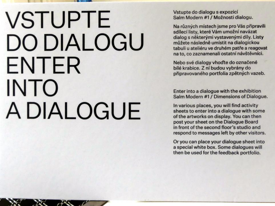 """Prag, Nationalgalerie im Salm-Palast, Ausstellung """"Möglichkeiten des Dialogs"""" vom 2.12.2018-1.12.2019, Bild 10/11"""