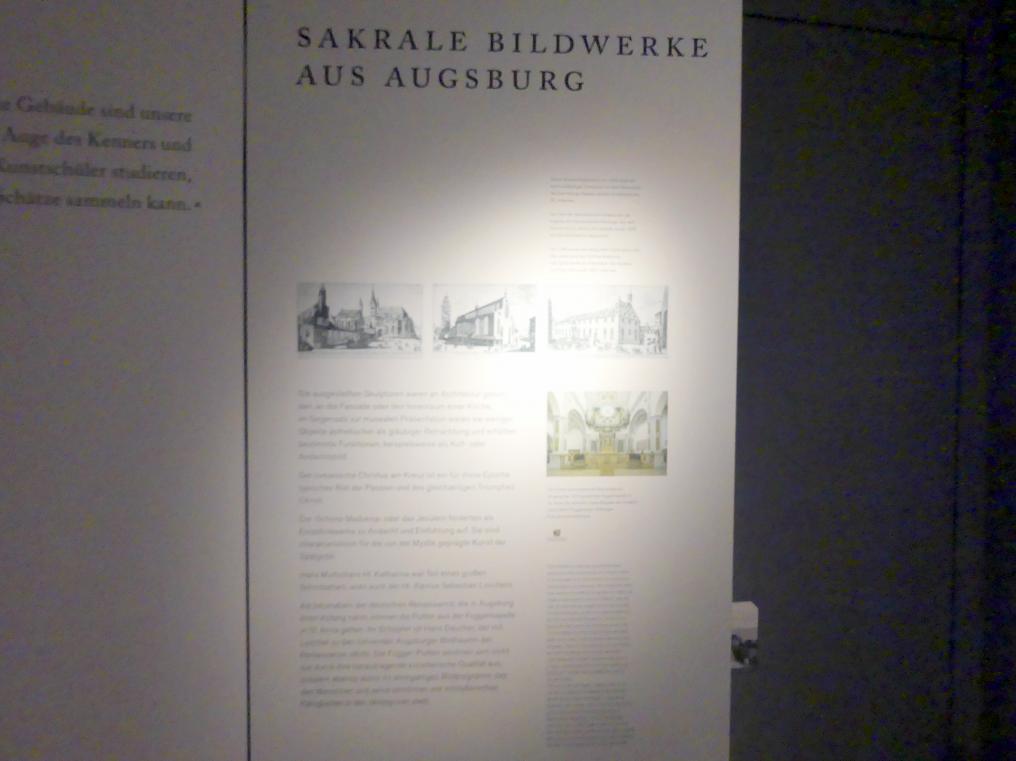 Augsburg, Maximilian Museum, Sakrale Bildwerke aus Augsburg