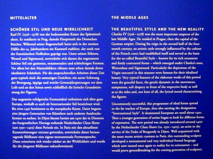 Frankfurt am Main, Liebieghaus Skulpturensammlung, Mittelalter 2 - Schöner Stil und neue Wirklichkeit, Bild 2/2