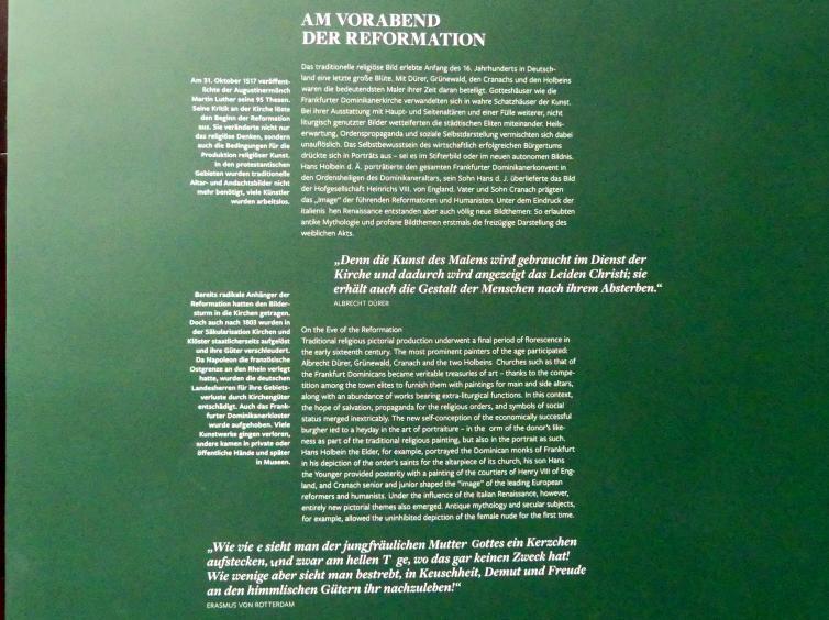 Frankfurt am Main, Städelsches Kunstinstitut, 2. Obergeschoss, Saal 2