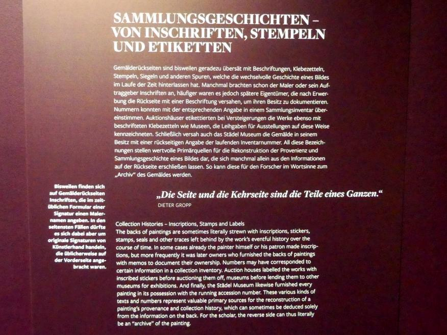 Frankfurt am Main, Städel Museum, 2. Obergeschoss, Saal 20, Bild 2/2