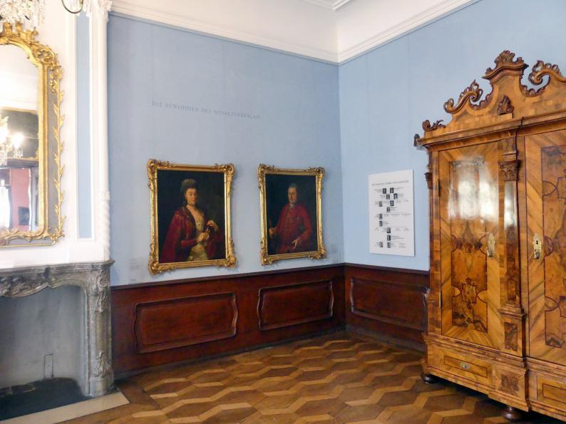 Augsburg, Deutsche Barockgalerie im Schaezlerpalais, Saal 11 - Die Bewohner des Schaezlerpalais, Bild 2/2