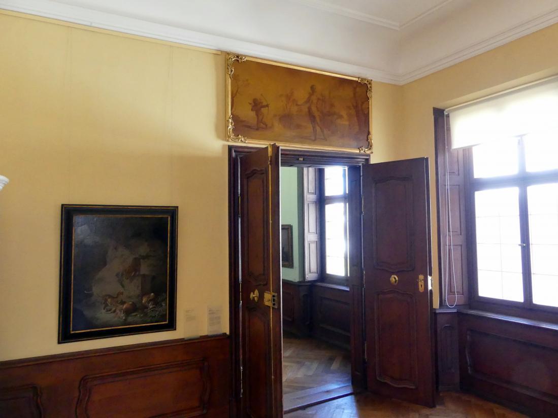 Augsburg, Städtische Kunstsammlungen, Deutsche Barockgalerie im Schaezlerpalais, Saal 13 - Genre und Tierstück, Bild 1/2