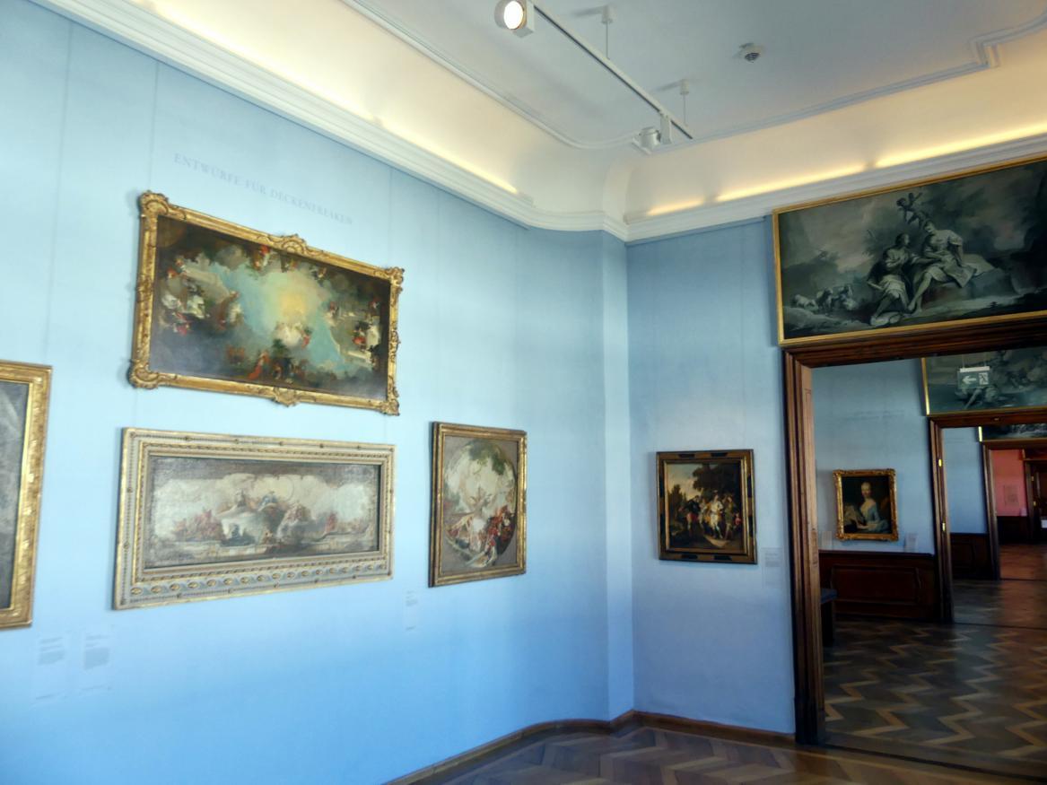Augsburg, Städtische Kunstsammlungen, Deutsche Barockgalerie im Schaezlerpalais, Saal 20 - Entwürfe für Deckenfresken