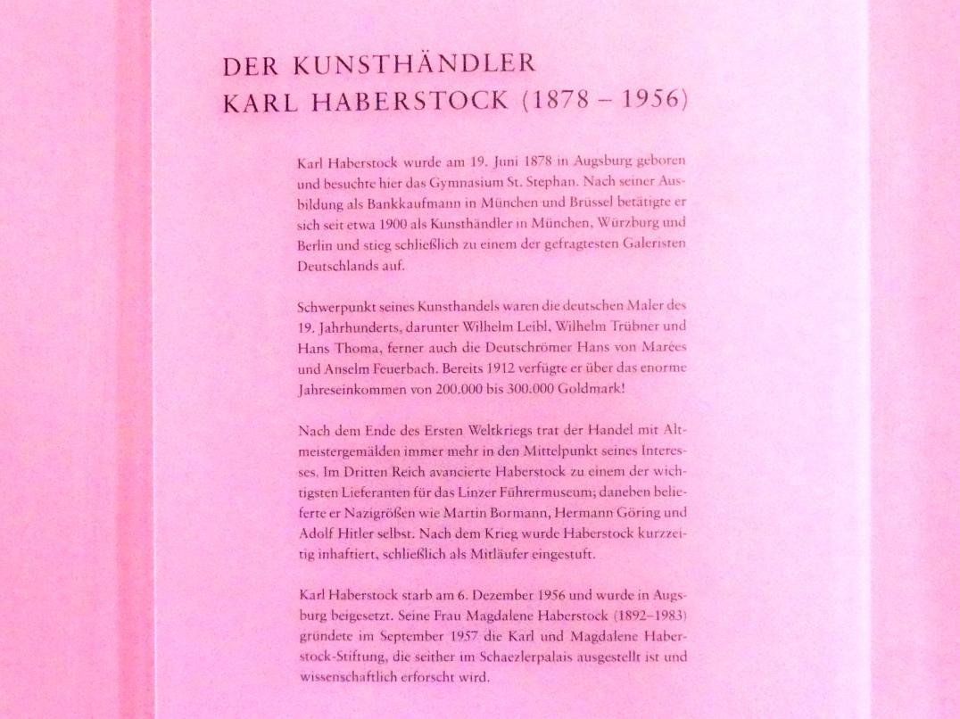 Augsburg, Deutsche Barockgalerie im Schaezlerpalais, Saal 28 - Haberstock-Stiftung: Malerie des 16. bis 20. Jahrhunderts, Bild 3/3