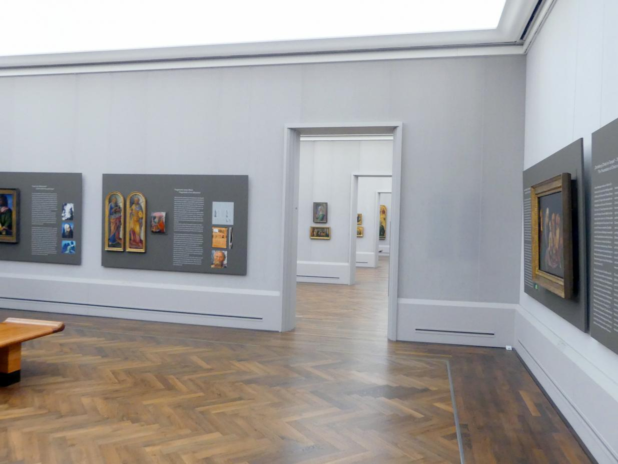 """Berlin, Gemäldegalerie (""""Berliner Wunder""""), Kabinett 38, Bild 1/2"""