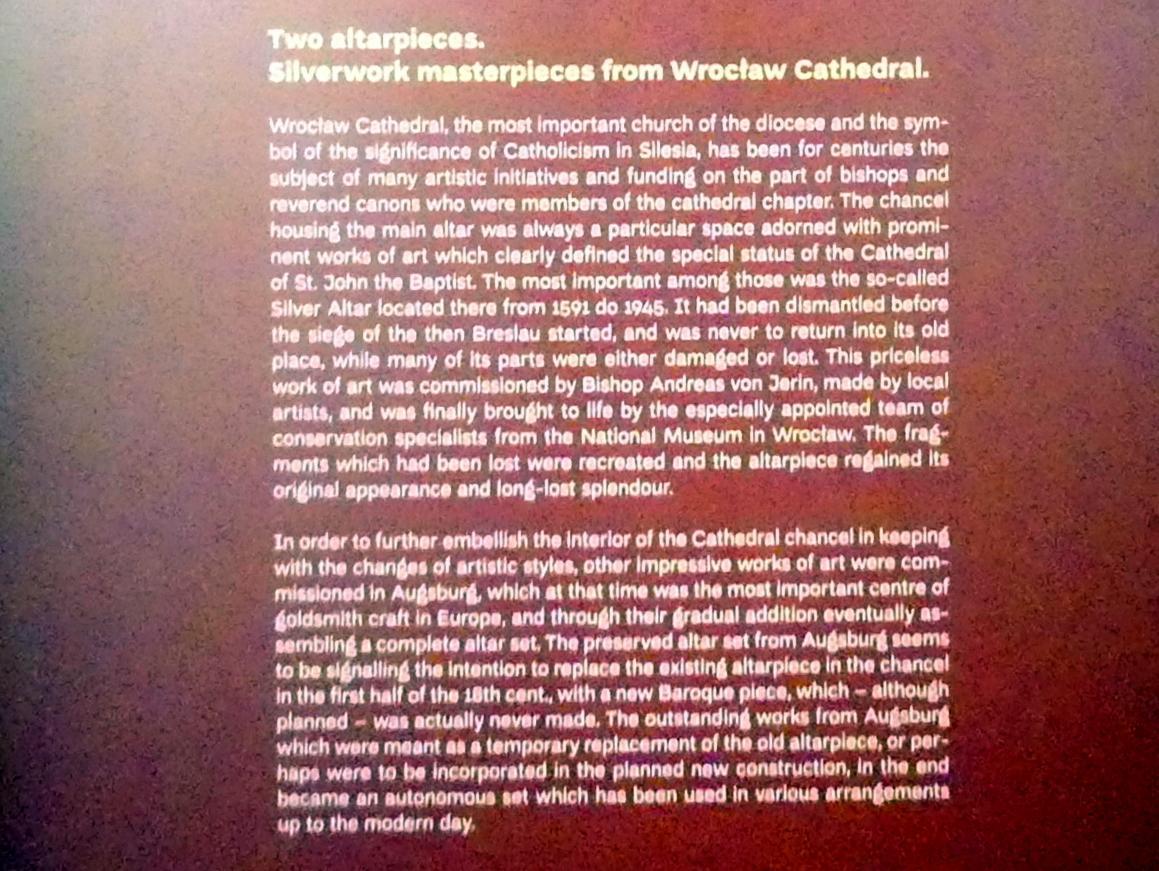 Breslau, Nationalmuseum, 1. OG, Sonderausstellung Zwei Altäre, Bild 4/6