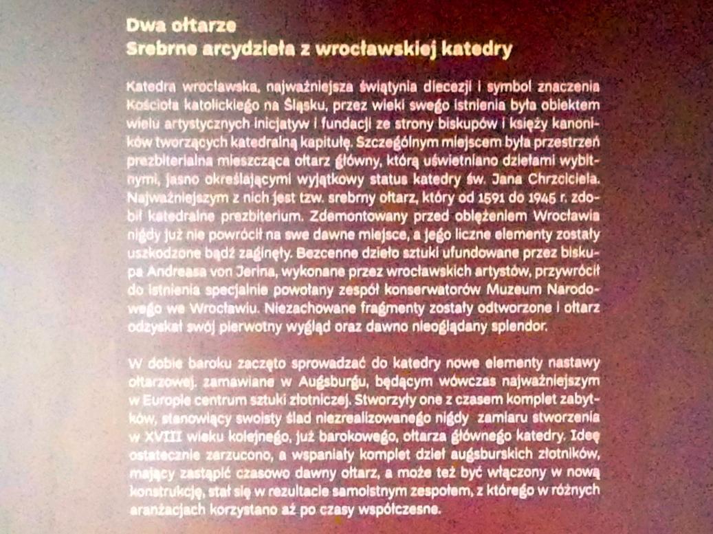 Breslau, Nationalmuseum, 1. OG, Sonderausstellung Zwei Altäre, Bild 5/6