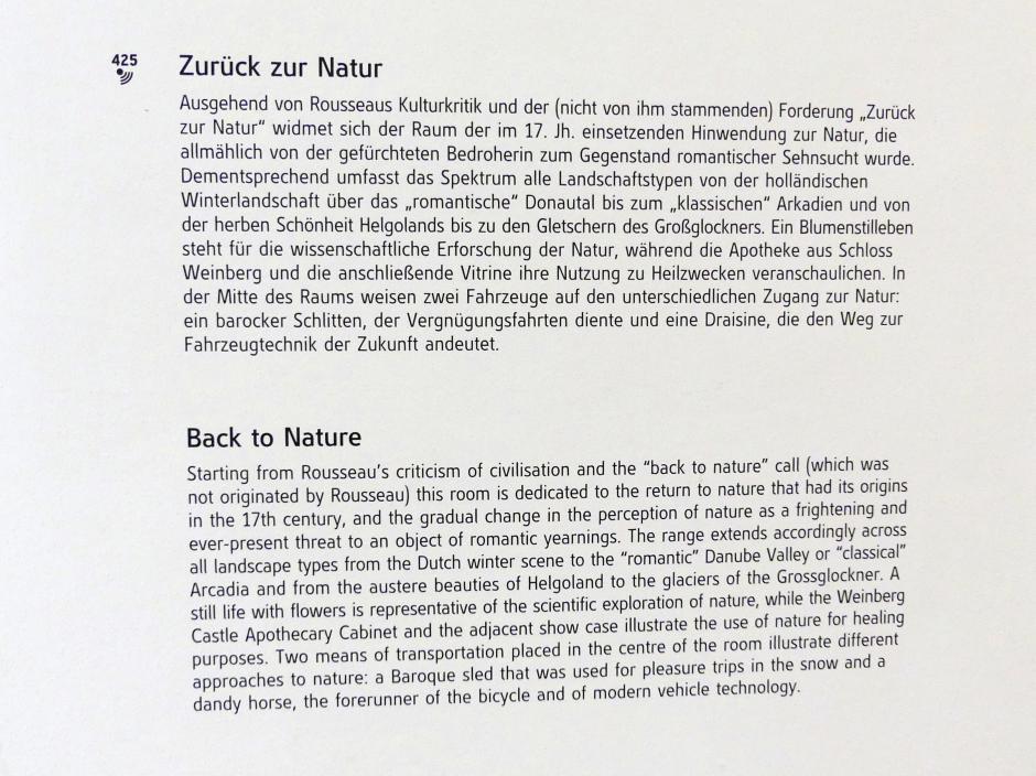 Linz, Oberösterreichisches Landesmuseum, Zurück zur Natur, Bild 3/3