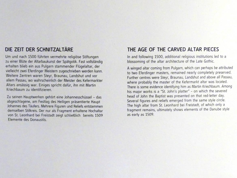 Linz, Oberösterreichisches Landesmuseum, Die Zeit der Schnitzaltäre, Bild 4/4