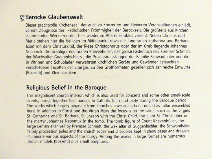 Linz, Oberösterreichisches Landesmuseum, Barocke Glaubenswelt, Bild 3/3
