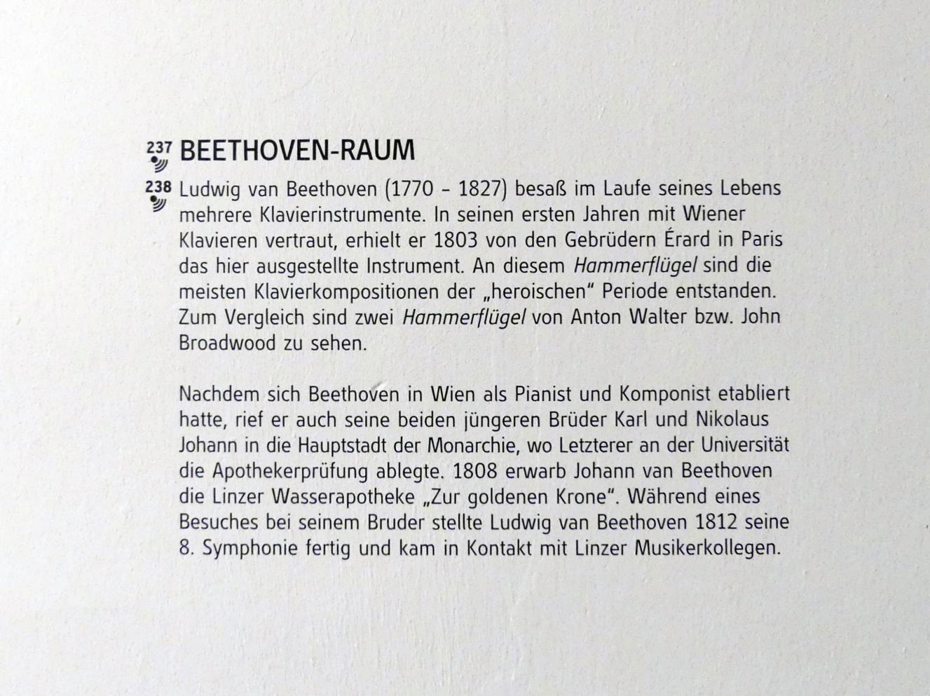 Linz, Oberösterreichisches Landesmuseum, Beethoven-Raum, Bild 4/5