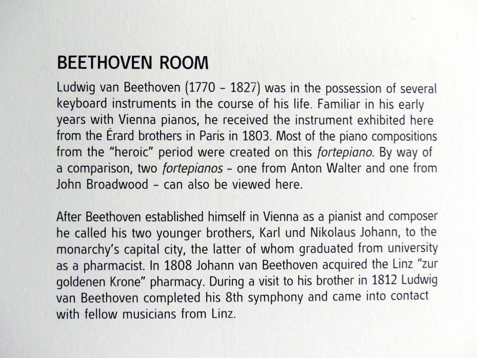 Linz, Oberösterreichisches Landesmuseum, Beethoven-Raum, Bild 5/5