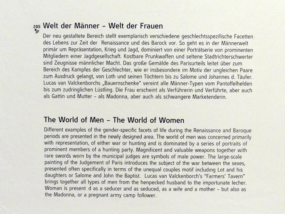 Linz, Oberösterreichisches Landesmuseum, Welt der Männer - Welt der Frauen, Bild 3/3