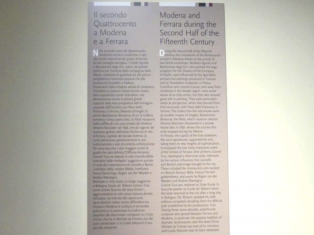 Modena, Galleria Estense, Saal 3, Bild 2/2