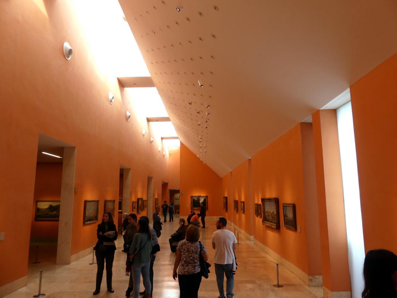 Madrid, Museo Thyssen-Bornemisza, Saal C, Galerie der Ansichten und Landschaften des 18. und 19. Jahrhunderts