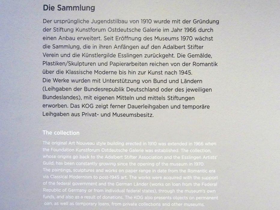 Regensburg, Ostdeutsche Galerie, Saal 2, Bild 4/4