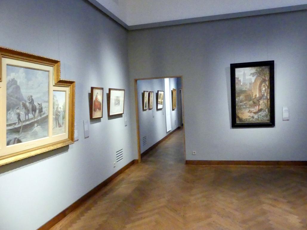 """München, Sammlung Schack, Ausstellung """"Erzählen in Bildern"""" vom 22.11.2018-10.03.2019, Saal 18, Bild 1/2"""
