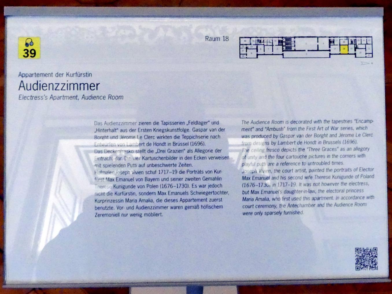 Schleißheim, Staatsgalerie im Neuen Schloss, Audienzzimmer im Appartement der Kurfürstin, Bild 4/4