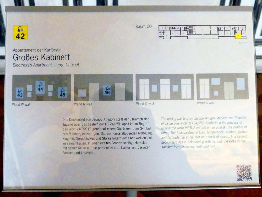 Schleißheim, Staatsgalerie im Neuen Schloss, Großes Kabinett im Appartement der Kurfürstin, Bild 3/3