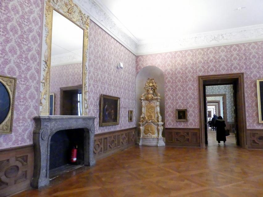Schleißheim, Staatsgalerie im Neuen Schloss, Großes Kabinett im südlichen Erdgeschoss-Appartement, Bild 2/4