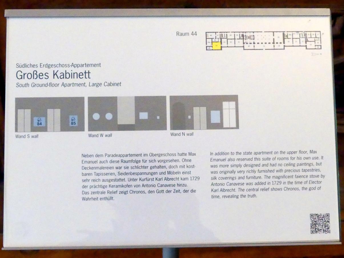 Schleißheim, Staatsgalerie im Neuen Schloss, Großes Kabinett im südlichen Erdgeschoss-Appartement, Bild 4/4