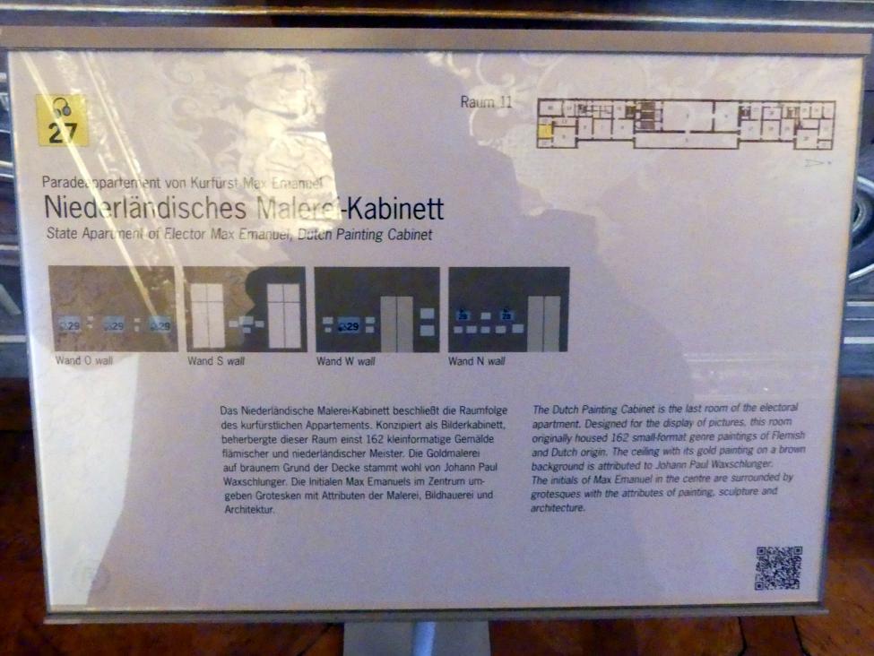 Schleißheim, Staatsgalerie im Neuen Schloss, Niederländisches Malerei-Kabinett im Paradeappartement des Kurfürsten, Bild 4/5