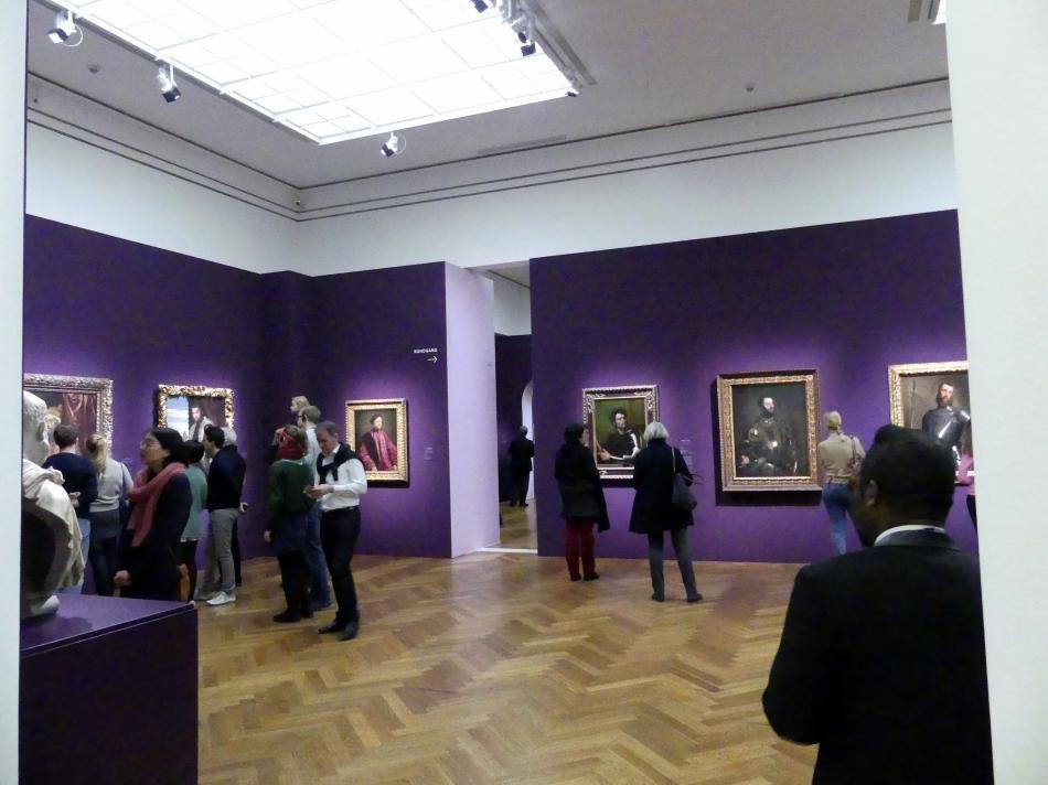"""Frankfurt, Städel, Ausstellung """"Tizian und die Renaissance in Venedig"""" vom 13.2. - 26.5.2019, Teil 2, Raum 1"""