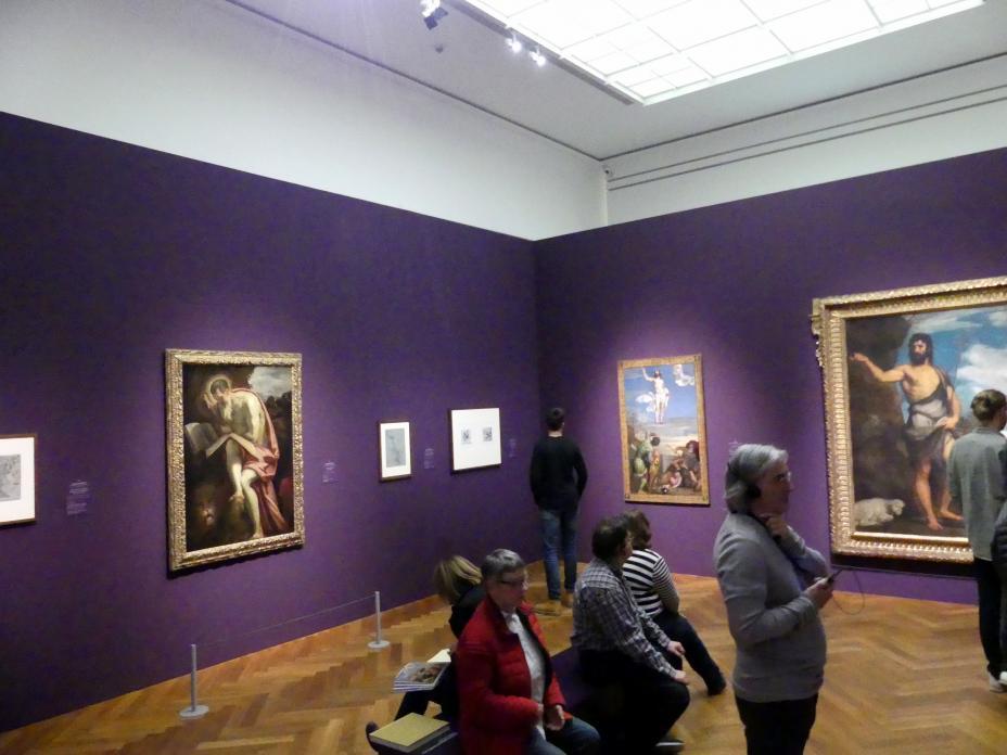 """Frankfurt, Städel, Ausstellung """"Tizian und die Renaissance in Venedig"""" vom 13.2. - 26.5.2019, Teil 2, Raum 3, Bild 1/2"""