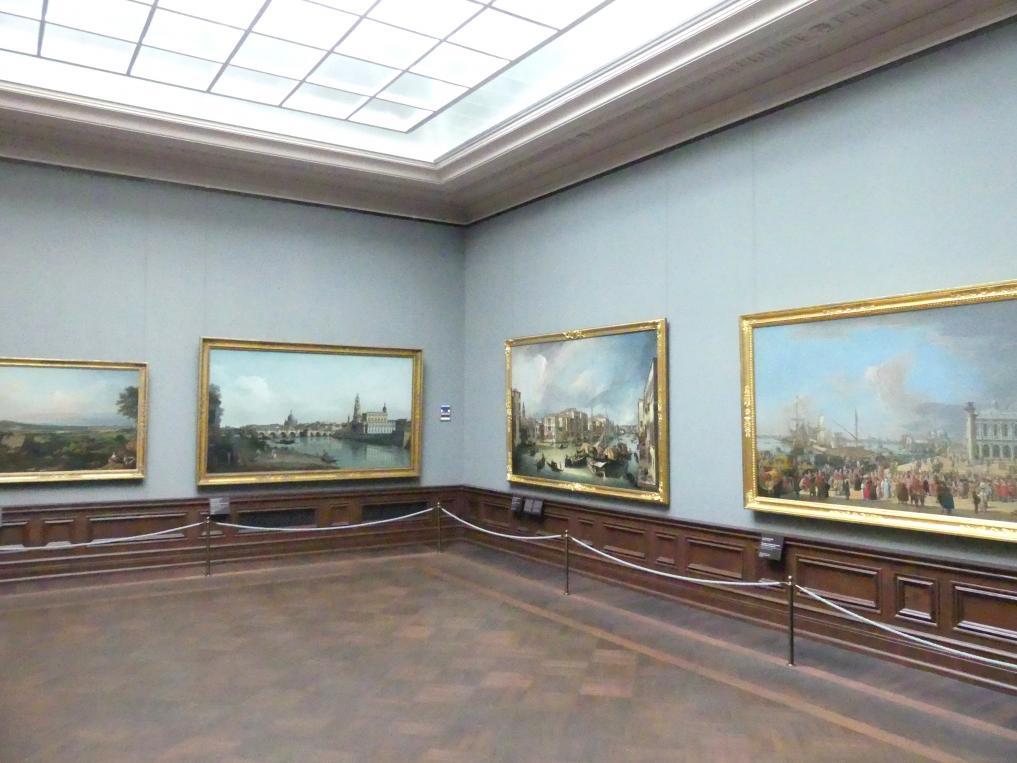 Dresden, Gemäldegalerie Alte Meister, 2. OG: Bellottos Dresden