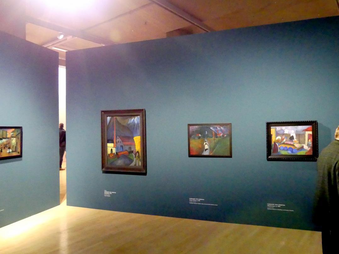 """München, Lenbachhaus, Kunstbau, Ausstellung """"Lebensmenschen"""" vom 22.10.2019-16.2.2020, München, Murnau, Oberstdorf, 1908-1913, Bild 4/17"""