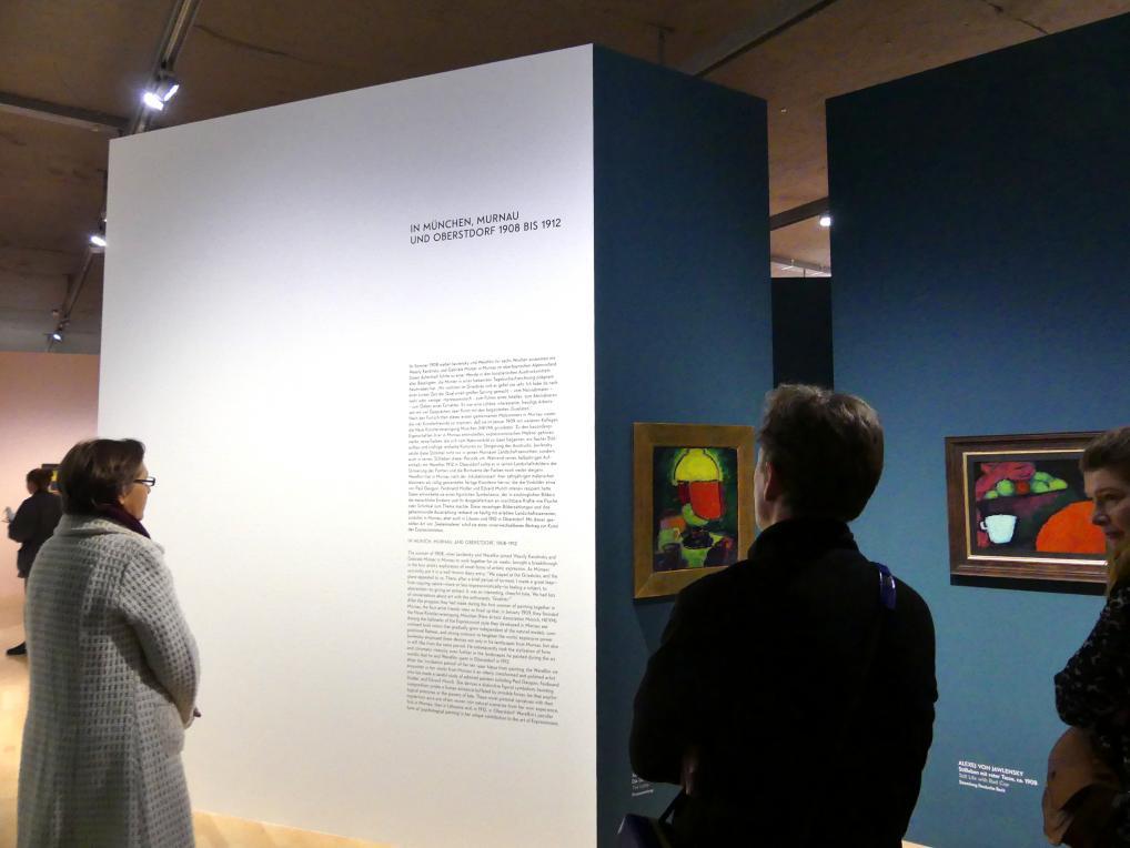 """München, Lenbachhaus, Kunstbau, Ausstellung """"Lebensmenschen"""" vom 22.10.2019-16.2.2020, München, Murnau, Oberstdorf, 1908-1913, Bild 5/17"""
