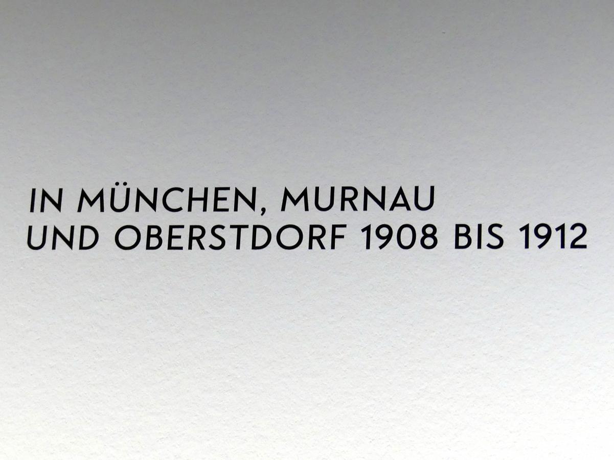"""München, Lenbachhaus, Kunstbau, Ausstellung """"Lebensmenschen"""" vom 22.10.2019-16.2.2020, München, Murnau, Oberstdorf, 1908-1913, Bild 6/17"""