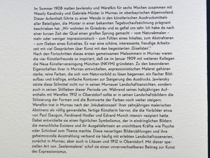 """München, Lenbachhaus, Kunstbau, Ausstellung """"Lebensmenschen"""" vom 22.10.2019-16.2.2020, München, Murnau, Oberstdorf, 1908-1913, Bild 7/17"""