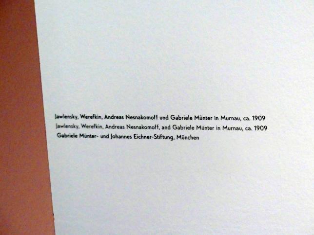 """München, Lenbachhaus, Kunstbau, Ausstellung """"Lebensmenschen"""" vom 22.10.2019-16.2.2020, München, Murnau, Oberstdorf, 1908-1913, Bild 10/17"""