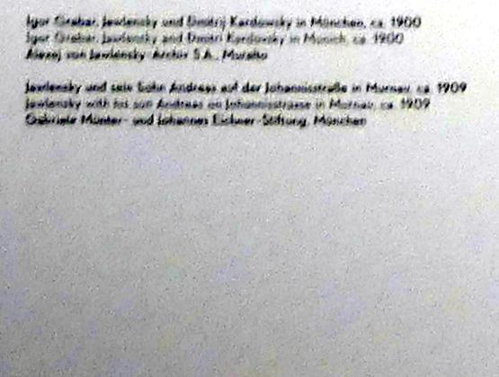 """München, Lenbachhaus, Kunstbau, Ausstellung """"Lebensmenschen"""" vom 22.10.2019-16.2.2020, München, Murnau, Oberstdorf, 1908-1913, Bild 12/17"""
