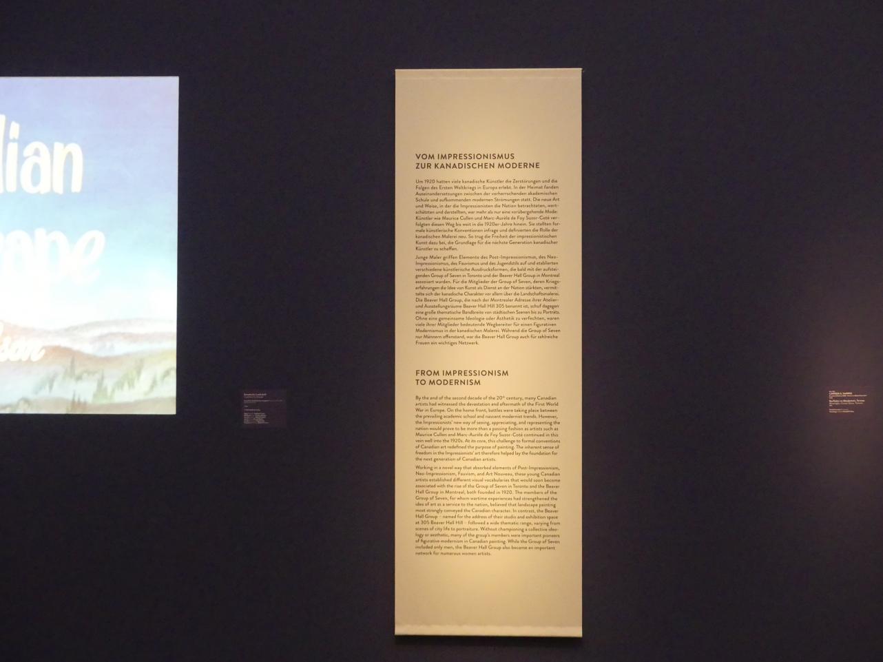 """München, Kunsthalle, Ausstellung """"Kanada und der Impressionismus"""" vom 19.7.-17.11.2019, Vom Impressionismus zur kanadischen Moderne, Bild 4/12"""