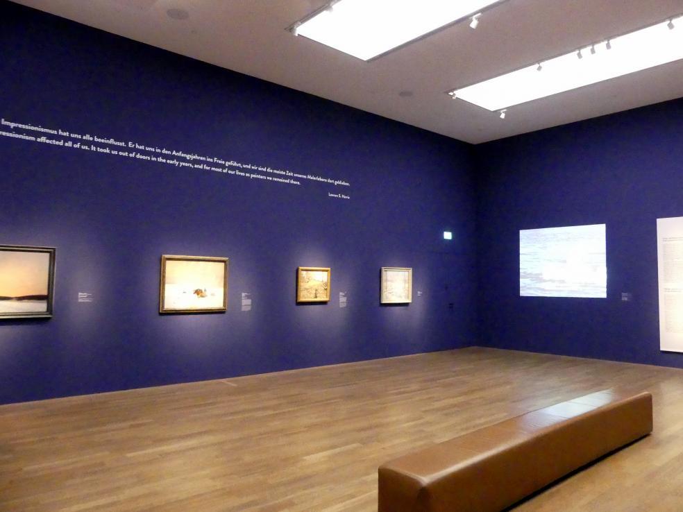 """München, Kunsthalle, Ausstellung """"Kanada und der Impressionismus"""" vom 19.7.-17.11.2019, Vom Impressionismus zur kanadischen Moderne, Bild 8/12"""