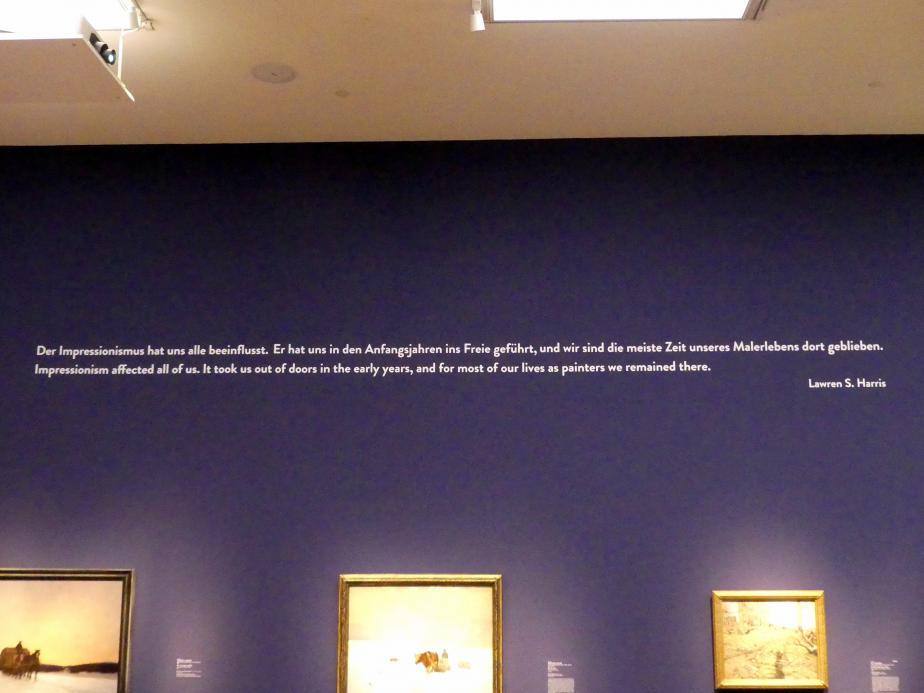"""München, Kunsthalle, Ausstellung """"Kanada und der Impressionismus"""" vom 19.7.-17.11.2019, Vom Impressionismus zur kanadischen Moderne, Bild 9/12"""