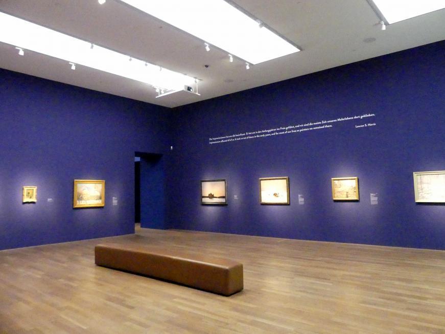"""München, Kunsthalle, Ausstellung """"Kanada und der Impressionismus"""" vom 19.7.-17.11.2019, Vom Impressionismus zur kanadischen Moderne, Bild 11/12"""